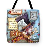 The Mad Hatter - In Court Tote Bag by Lucia Stewart