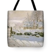 The Magpie Tote Bag by Claude Monet