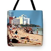 The Miami Beach Tote Bag by David Lee Thompson