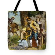 The Midnight Ride Of Paul Revere 1775 Tote Bag by Photo Researchers