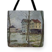 The Mills At Moret Sur Loing Tote Bag by Alfred Sisley