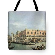 The Molo and the Piazzetta San Marco Tote Bag by Canaletto