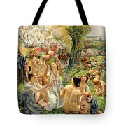 The Morning Tote Bag by Leon Henri Marie Frederic