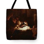 The Nativity Tote Bag by Pierre Louis Cretey or Cretet