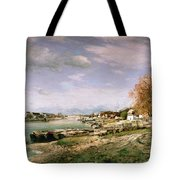 The Old Quay At Bercy Tote Bag by Jean Baptiste Armand Guillaumin