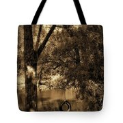 The Old Tire Swing Tote Bag by Bill Cannon