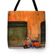 The Orange Vespa Tote Bag by Karen Fleschler