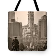 The Parkway in Sepia Tote Bag by Bill Cannon