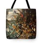 The Parliament Of Birds Tote Bag by Carl Wilhelm de Hamilton