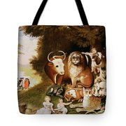 The Peaceable Kingdom Tote Bag by Edward Hicks