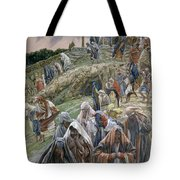 The People Beholding The Things That Were Done Smote Their Breasts Tote Bag by Tissot