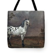 The Piebald Horse Tote Bag by Paulus Potter