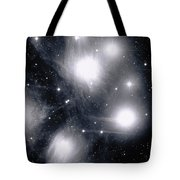 The Pleiades Star Cluster, Also Known Tote Bag by Stocktrek Images