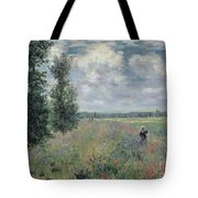 The Poppy Field Tote Bag by Claude Monet