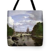 The Port At Quimper Tote Bag by Eugene Louis Boudin