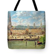 The Port At Rouen Tote Bag by Torello Ancillotti