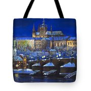The Prague Panorama Tote Bag by Yuriy  Shevchuk