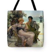 The Proposal Tote Bag by Sir Lawrence Alma Tadema