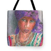 The Purple Scarf  Tote Bag by Arline Wagner