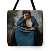 The Reader Crowned With Flowers Tote Bag by Jean Baptiste Camille Corot