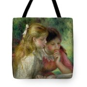 The Reading Tote Bag by Pierre Auguste Renoir