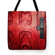The Red Church Door Tote Bag by Lisa Russo