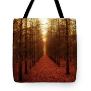 The Red Forest Tote Bag by Amy Tyler