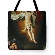 The Resurrection Of Christ Tote Bag by Bartolome Esteban Murillo
