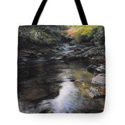 The River At Lady Bagots Tote Bag by Harry Robertson