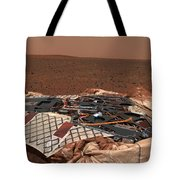The Rovers Landing Site, The Columbia Tote Bag by Stocktrek Images