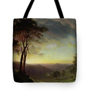The Sacramento River Valley  Tote Bag by Albert Bierstadt