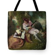 The Scale of Love Tote Bag by Jean Antoine Watteau