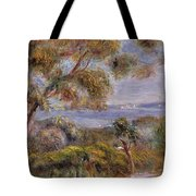 The Sea at Cagnes Tote Bag by Pierre Auguste Renoir