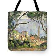 The Sea At L Estaque Tote Bag by Paul Cezanne