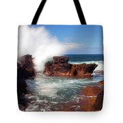 The Sea Explodes Tote Bag by Mike  Dawson