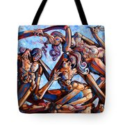 The Seduction Of The Muses Tote Bag by Darwin Leon