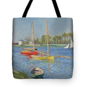 The Seine At Argenteuil Tote Bag by Gustave Caillebotte