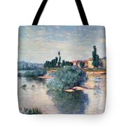 The Seine At Lavacourt Tote Bag by Claude Monet