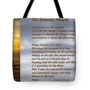 The Serenity Prayer Tote Bag by Barbara Snyder