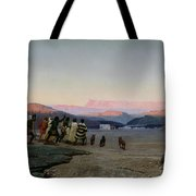 The Shepherds Led by the Star Arriving at Bethlehem Tote Bag by Octave Penguilly lHaridon