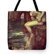The Siren Tote Bag by John William Waterhouse