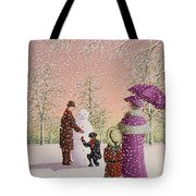 The Snowman Tote Bag by Peter Szumowski
