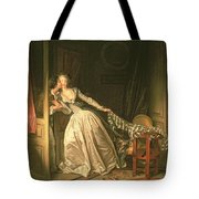 The Stolen Kiss Tote Bag by Jean-Honore Fragonard