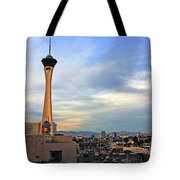 The Stratosphere In Las Vegas Tote Bag by Susanne Van Hulst