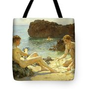The Sun Bathers Tote Bag by Henry Scott Tuke