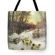 The Sun Had Closed the Winter's Day  Tote Bag by Joseph Farquharson