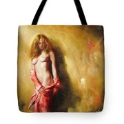 The Sun In Red Tote Bag by Sergey Ignatenko