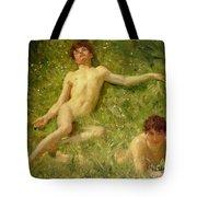The Sunbathers Tote Bag by Henry Scott Tuke