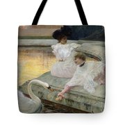 The Swans Tote Bag by Joseph Marius Avy