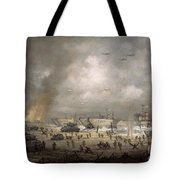 The Tanks Go In - Sword Beach  Tote Bag by Richard Willis